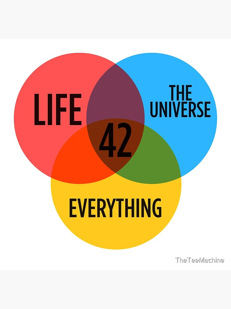 42 The Answer To Everything Sticker & T-Shirt - Gift For Book Lover de TheTeeMachine