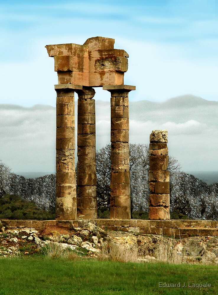 RUINS at RHODOS, GREECE by Edward J. Laquale