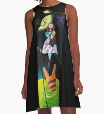 Sally The Nightmare Before Christmas Tightrope Girl Colored A-Line Dress