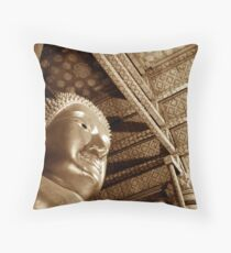 Black & White Budda Throw Pillow