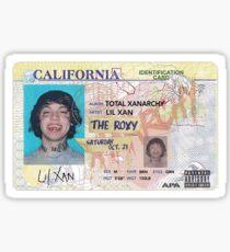 Lil Xan I.D. Card Sticker