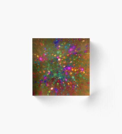 Autumn #fractal art Acrylic Block