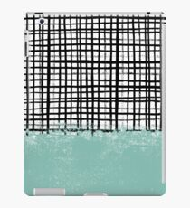 Mila - Grid and mint - paint, art, artist cell phone case, grid phone case iPad Case/Skin