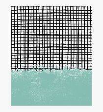 Mila - Grid and mint - paint, art, artist cell phone case, grid phone case Photographic Print