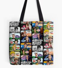 Faces of Who Tote Bag