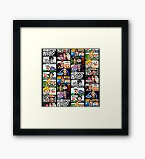 Faces of Who Framed Print