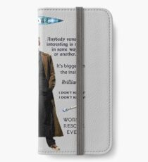 Dr. Who quotes iPhone Wallet/Case/Skin