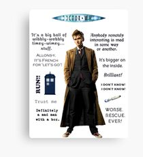 Dr. Who quotes Canvas Print