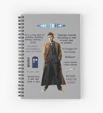 Dr. Who quotes Spiral Notebook