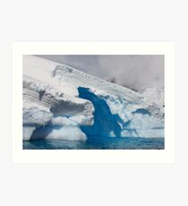 Ice Sculpture, Antarctic Peninsula Art Print