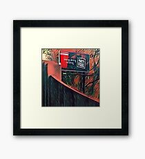 Party Foul Framed Print