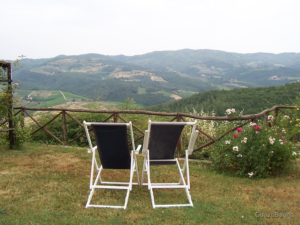 Deckchairs in Tuscany by GuavaBeans