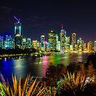 Night Lights Brisbane by Keith G. Hawley