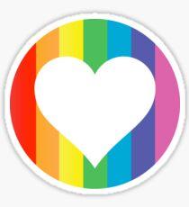 rainbow hearts Sticker