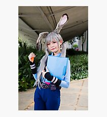 Judy Hopps Cosplay Photographic Print