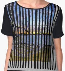 Spiral fantasy in stripes. Chiffon Top