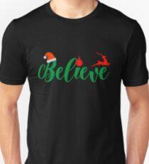 Premium Christmas Believe Shirt Xmas Night Quote Holiday Tee Unisex T-Shirt