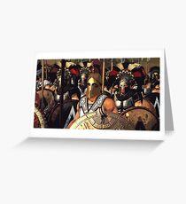 Spartan Army - Ancient Warfare Greeting Card