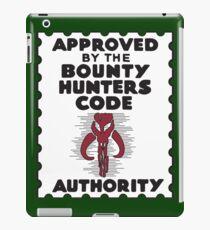 Bounty Hunters Code Authority iPad Case/Skin