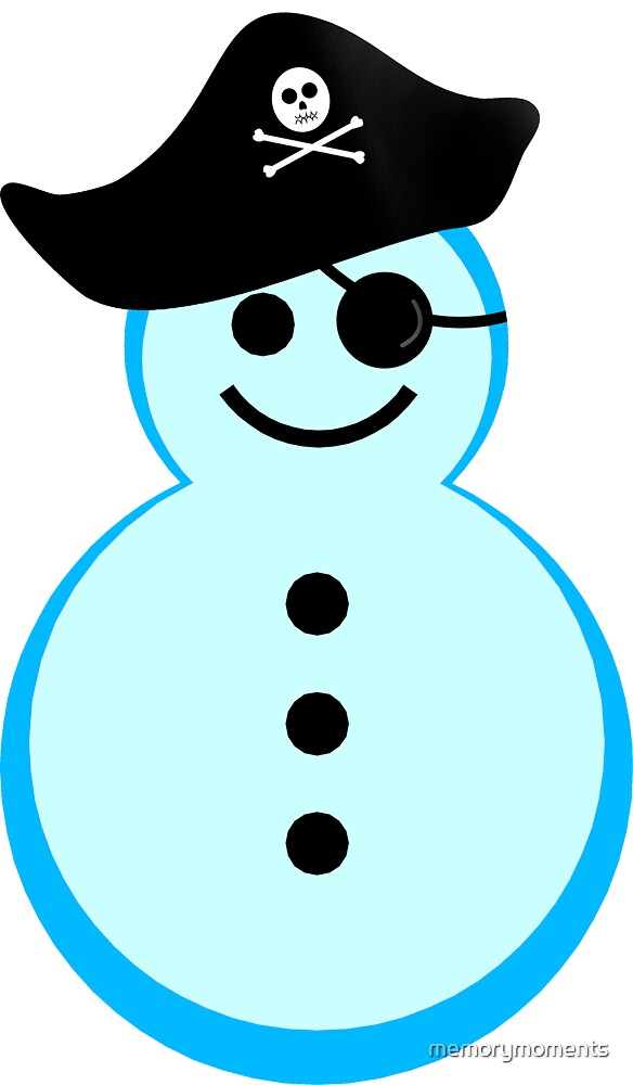 snowman pirate by memorymoments