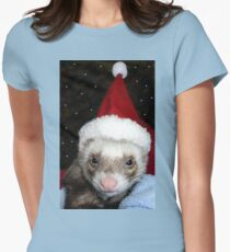 Ferret Santa Womens Fitted T-Shirt