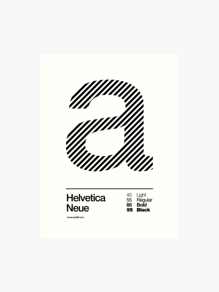 a      Helvetica Neue (b) | Art Print