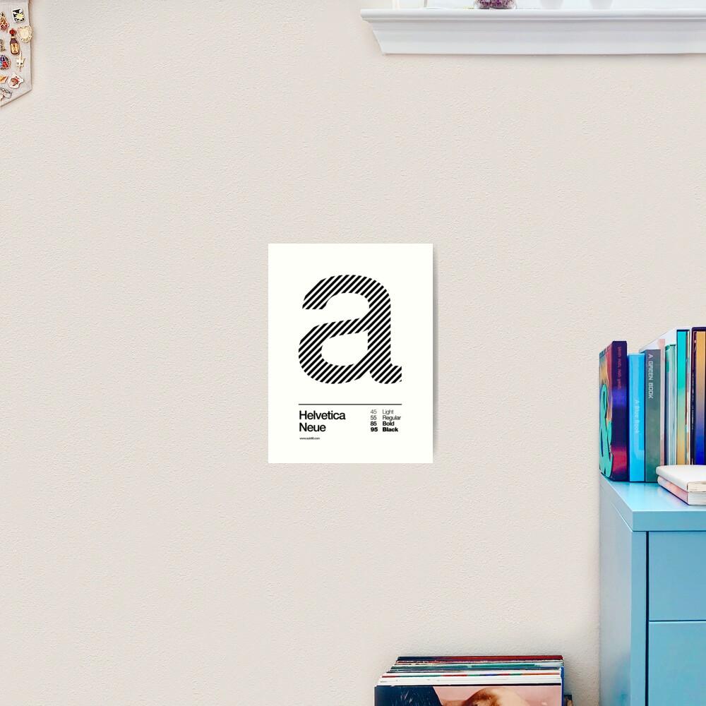 a .... Helvetica Neue (b) Art Print