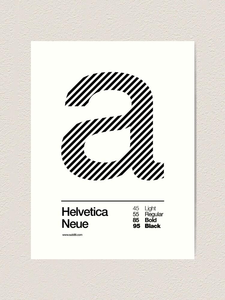 Alternate view of a .... Helvetica Neue (b) Art Print