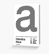 a .... Helvetica Neue (b) Greeting Card