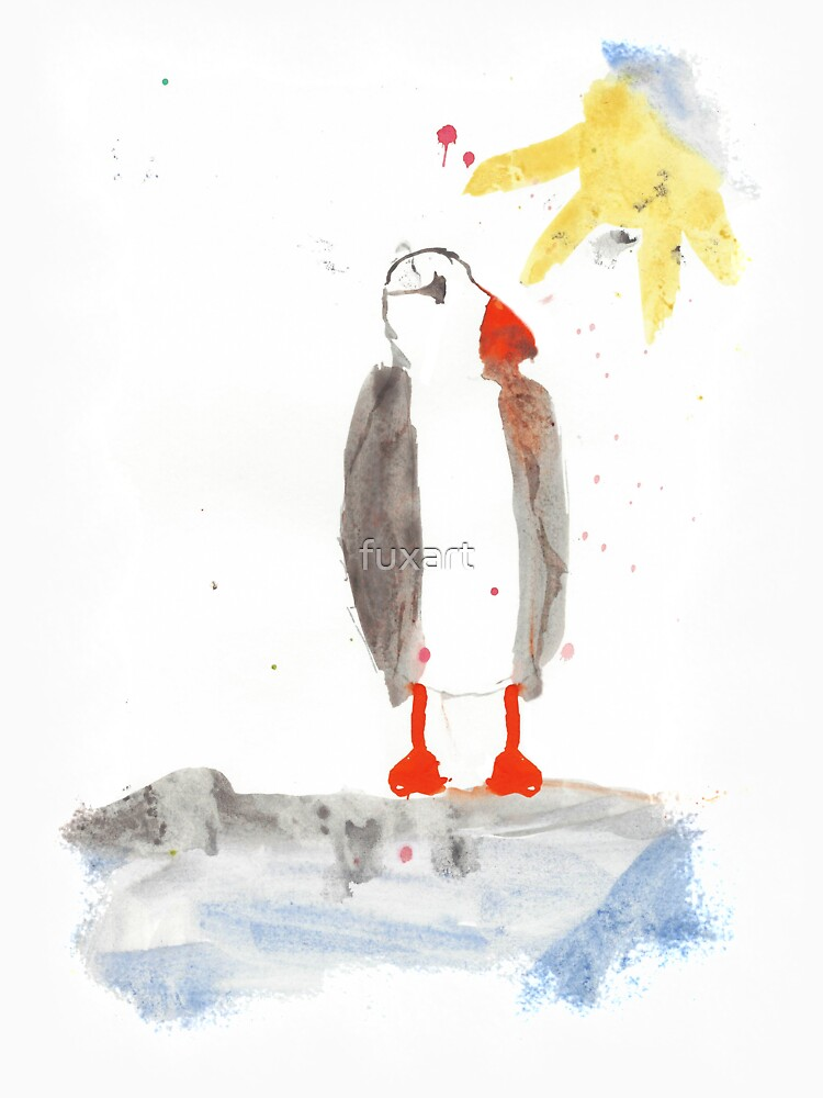 PAPAGEITAUCHER AQUARELL - PUFFIN WATERCOLOR von fuxart