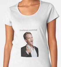 Barney Stinson challenge accepted  Women's Premium T-Shirt