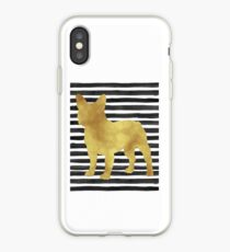 French bulldog stripes and gold iPhone Case
