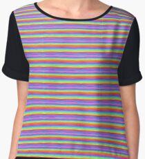 Compressed Rainbow Psychedelia Chiffon Top