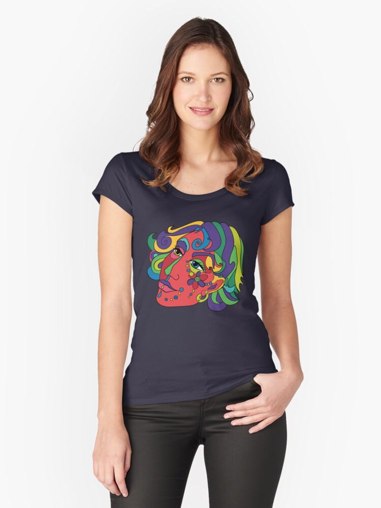 Flower Girl Women's Fitted Scoop T-Shirt Front