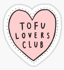 Tofu lovers club Sticker