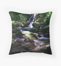 Poring Waterfall Throw Pillow