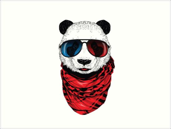 Cool Panda Art Prints By ViCdesign