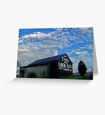 Rock City, Tennessee, barn  Greeting Card