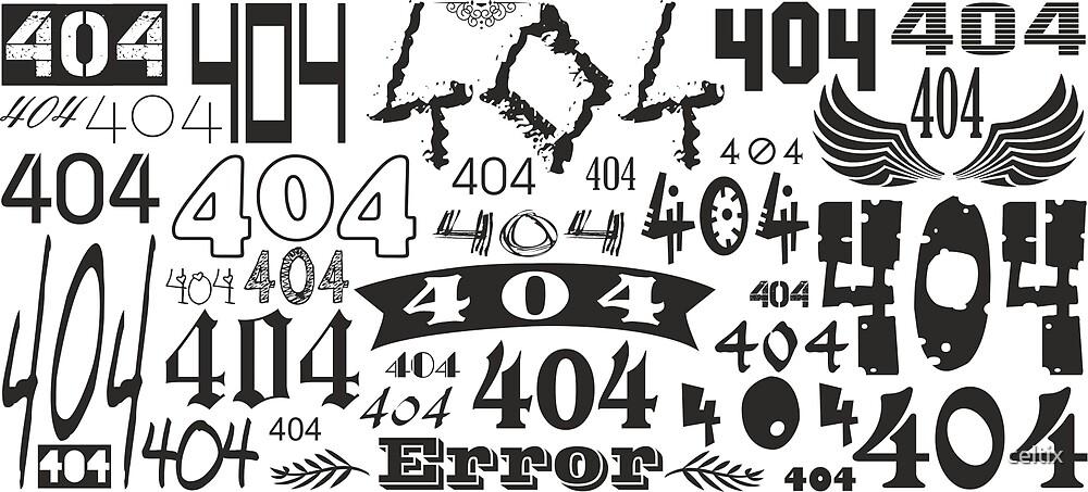 Error 404 - not found by celtix