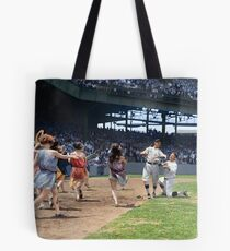 Al Schacht & Nick Altrock at MLB Opening game in Griffith Stadium in Washington D.C., 1924 Tote Bag