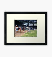Al Schacht & Nick Altrock at MLB Opening game in Griffith Stadium in Washington D.C., 1924 Framed Print