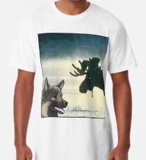 Camiseta larga Perro noruego Elkhound Moose