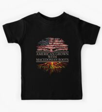 American grown with Macedonian Roots T-Shirt  Kids Tee