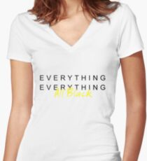 Everything All Black! Women's Fitted V-Neck T-Shirt
