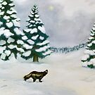 The Wolverine and the Ice Mist by Staffan Alsparr