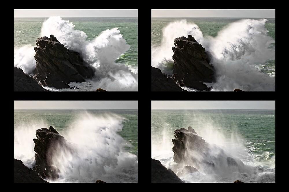 « Big wave exploding in Yeu Island » par Aurelien CURTET