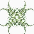Fractal Art - The fern marks the point by Sven Fauth