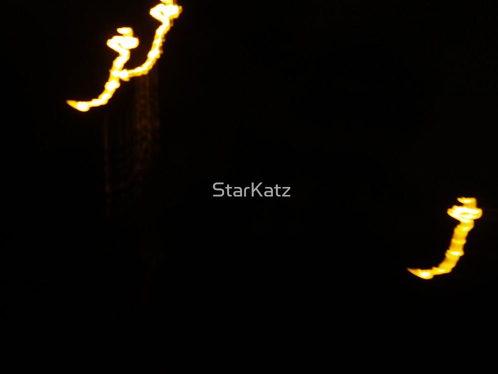 Strange lights over Sydney  UFO perhaps? by StarKatz