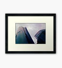 Big City Skyline........the pastel set  # five Framed Print
