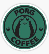 Porg Coffee Sticker